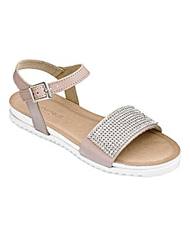 Heavenly Soles Diamante Sandals D Fit