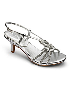 Heavenly Soles Diamante Sandals E Fit