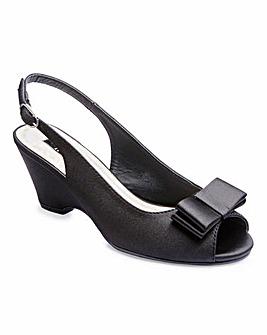 JOANNA HOPE Peep Toe Wedge Shoes E Fit