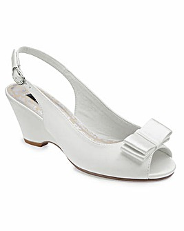 JOANNA HOPE Peep Toe Wedge Shoes E Fit
