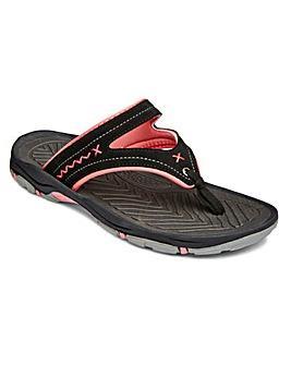 Dunlop Toe Post Mule Sandals E Fit