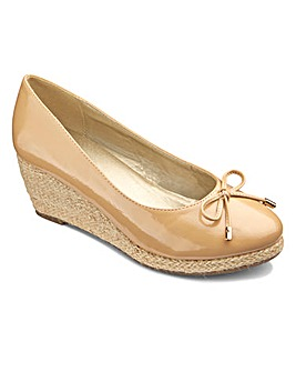 Footflex by Lotus Bow Wedge Shoes E Fit