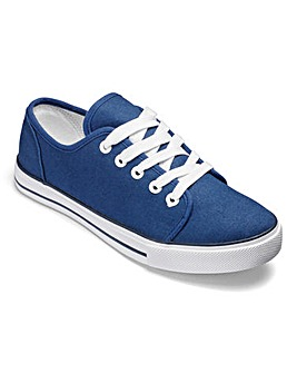 Dunlop Canvas Lace Up Shoes EEE Fit