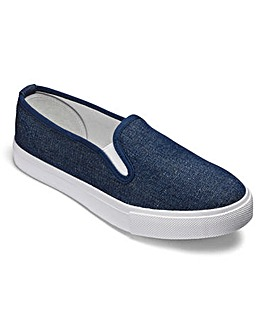 Dunlop Canvas Slip On Shoes E Fit