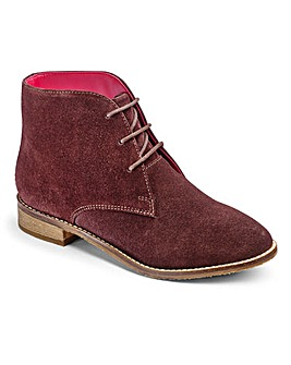Brevitt Suede Lace Up Boots E Fit