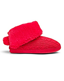 Heavenly Soles Knit Fold Slipper Boots