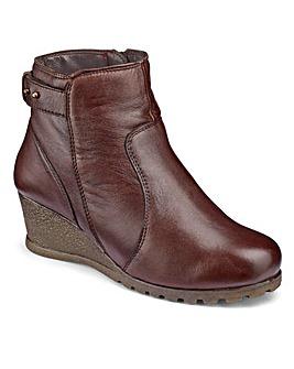 Lotus Wedge Ankle Boots EEE Fit