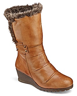 Lotus Warmlined Wedge Ankle Boots EEE