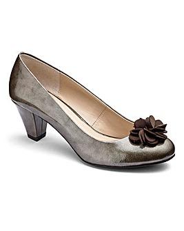 Lotus Flower Trim Court Shoes EEE Fit