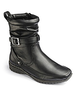 Cushion Walk Buckle Strap Boots EEE Fit