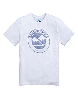 Snowdonia Faded Graphic Tee