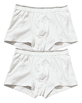Jockey Pack of 2 White Trunks