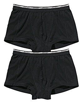 Jockey Pack of 2 Black Trunks