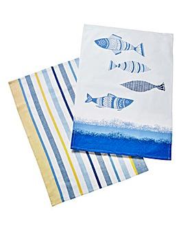 Drift Away Tea Towel 2 Pack