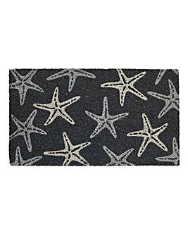 Starfish Glitter Door Mat