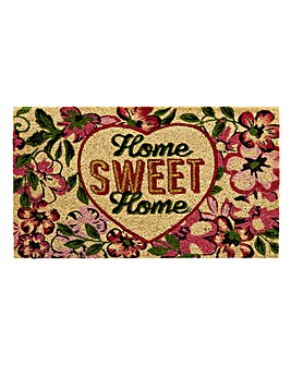 Home Sweet Home Glitter Door Mat