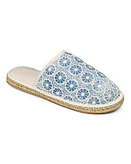 Heavenly Soles Luxury Espadrille Slipper