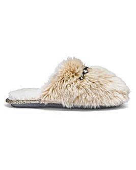 Pretty You Plush Mule Slippers