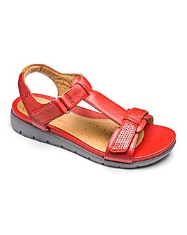 Clarks Un Haywood T Bar Sandals E Fit