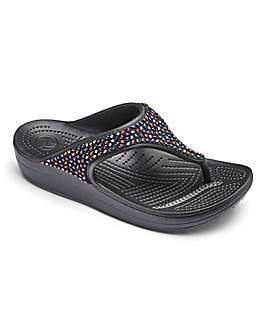 Crocs Toe Post Mule Sandals D Fit