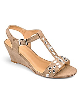 Heavenly Soles Jewel Wedge Sandals E Fit