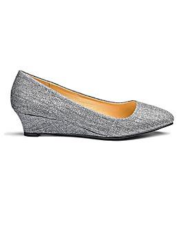 Heavenly Soles Low Wedge Shoes EEE Fit