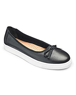 Heavenly Soles Leather Ballerinas E Fit