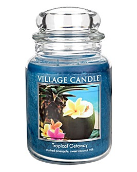 Tropical Getaway Village Candle