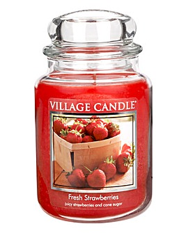 Fresh Strawberry Village Candle