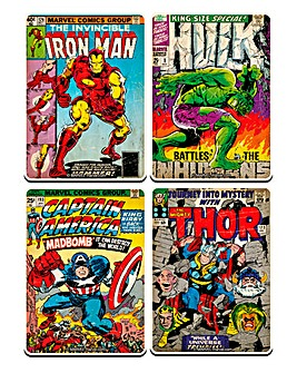 Marvel Comics Set 4 Coasters