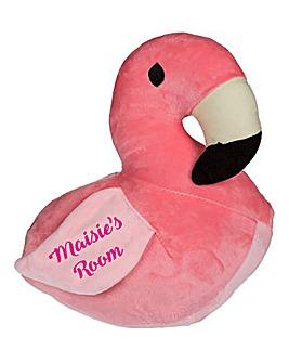 Personalised Flamingo Doorstop