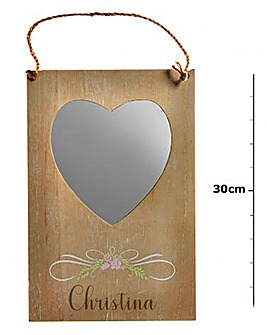 Personalised Floral Heart Mirror