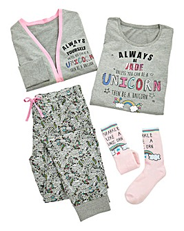 Pers Always Be a Unicorn 4pc Pyjama Set