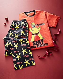 Personalised Simpsons Sexy Pyjamas
