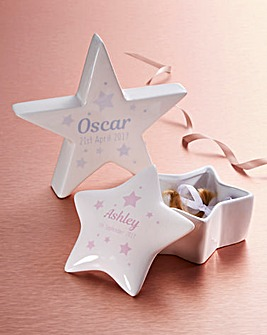 Personalised Name Star Trinket Box