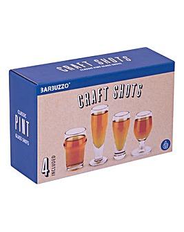 Set 4 Craft Beer Shot Glasses