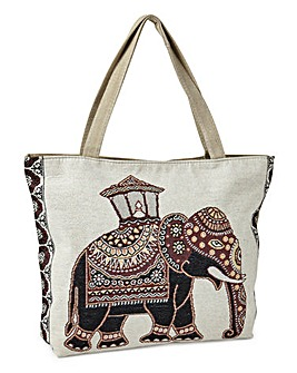 Elephant Tapestry Shopper Bag