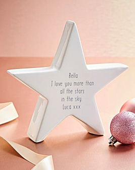 Personalised Message Ceramic Star