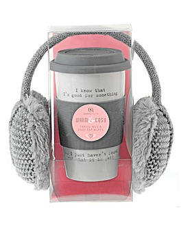 Travel Mug and Earmuffs Gift Set
