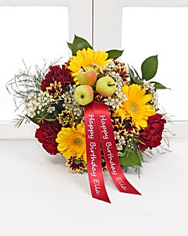 Personalised Autumn Posy