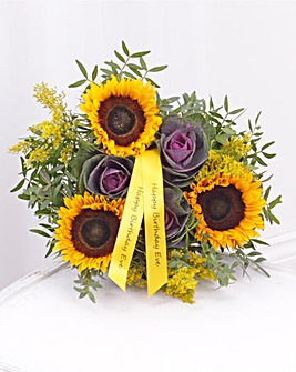 Personalised Autumn Sunflower Brassica