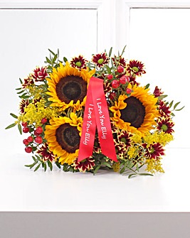Personalised Autumn Sunflower Bouquet
