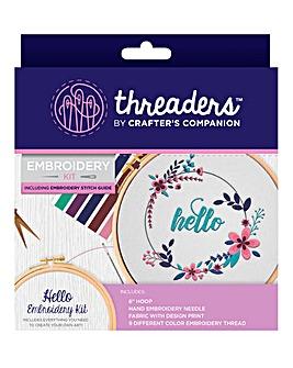 Embroidery Kits - Hello