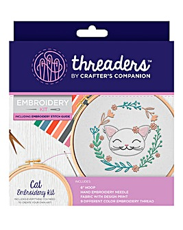 Embroidery Kits - Cat