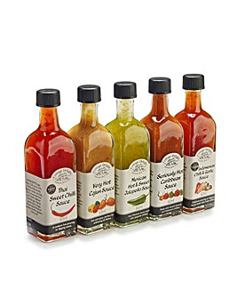 Cottage Delight Pack of Five Hot Sauces
