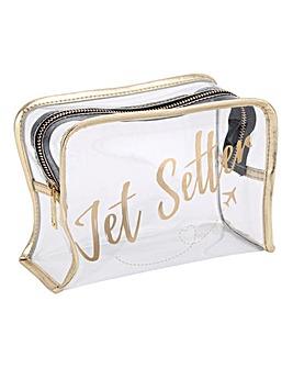 W&R Jet Setter Clear Wash Bag
