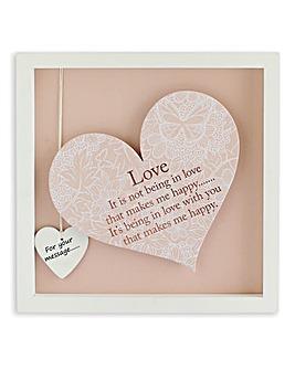 Sentiments Heart Frame