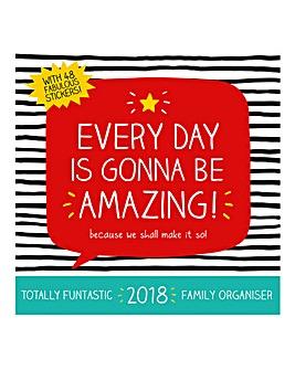 2018 Happy Jackson Organiser Calendar