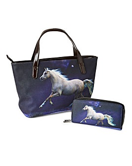 Animal Photo Print Handbag and Purse