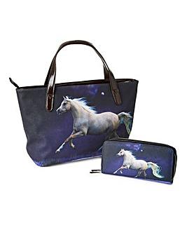 Animal Photo Print Handbag and Purse